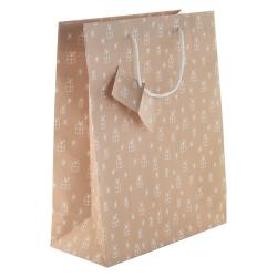 Torebka prezentowa z matowego papieru laminowanego - AP808754