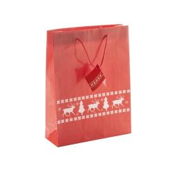 Papierowa, ozdobna torba z motywem świątecznym - AP808750