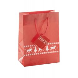 Papierowa, ozdobna torba z motywem świątecznym - AP808753