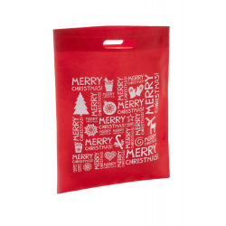 Torba na zakupy z włókniny z motywem świątecznym - AP809431