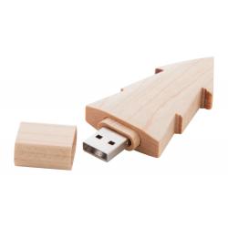 Drewniany pendrive USB w kształcie choinki - AP897088_8GB