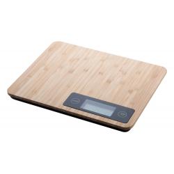 Cyfrowa waga kuchenna z bambusową powierzchnią i podświetlanym wyświetlaczem - AP800421