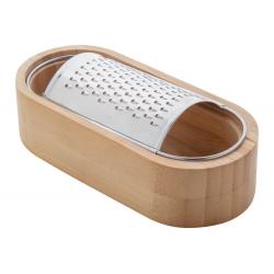 Tarka do sera ze stali nierdzewnej z bambusową tacką - AP800419