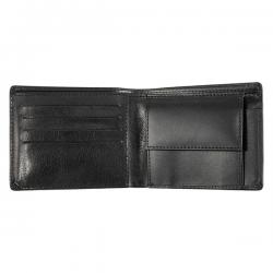 Skórzany portfel wyposażony w zamykaną kieszeń na monety - R41110