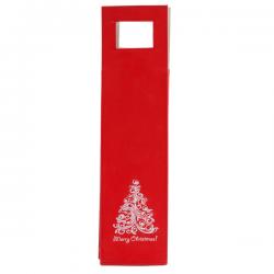Elegancka torba na wino ze skóry ekologicznej z motywem świątecznym - X22557