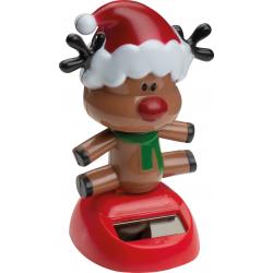 Ruszająca się figurka świąteczna, wyposażona w zasilanie słoneczne - 91187M2