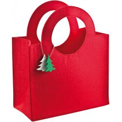 Świąteczna filcowa torba z zawieszką w kształcie choinki - 6898805