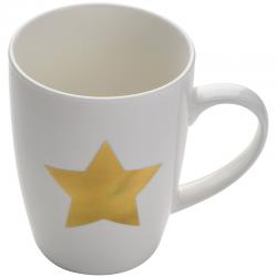 Porcelanowy kubek z nadrukowaną złotą gwiazdą - 8058406