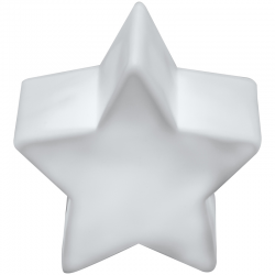 Plastikowa lampka LED w kształcie gwiazdki wykonana z białego plastiku - 8058506