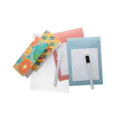 Wykonywany na zamówienie magnetyczny notatnik z flamastrem i czyścikiem - AP718770