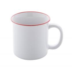 Kubek ceramiczny w stylu vintage z kolorową obwódką, 300 ml - AP721388