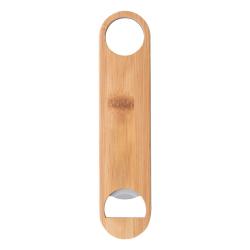 Otwieracz do butelek ze stali nierdzewnej pokryty bambusem - AP809569