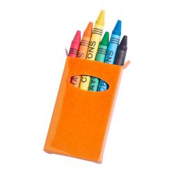 Kredki świecowe (6 szt) w kolorowym papierowym pudełku - AP731350