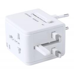 Uniwersalny, podróżny adapter z 2 portami USB - AP781349