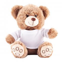 Maskotka przytulanka dla dzieci w białej koszulce - R74041