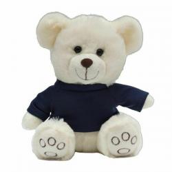 Maskotka przytulanka dla dzieci w granatowej koszulce - R74040