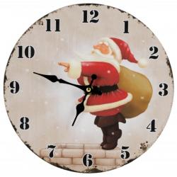 Zegar ścienny ze świątecznym wzorem - 56-0401208