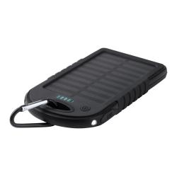 Silikonowy power bank 4000mAh, ładowarką solarną i latarką  - AP741932
