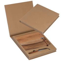 Drewniana deska do serów ze skórzaną zawieszką - 8083601