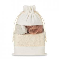 Zestaw do kąpieli zawierający gąbkę, pumeks i myjkę - MO9872