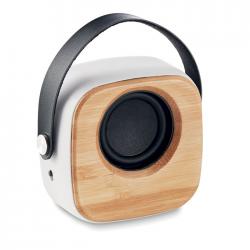 Głośnik Bluetooth 5.0 z ABS z bambusowym przodem - MO9806
