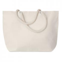 Torba plażowa lub torba na zakupy z bawełny z uchwytem ze sznurka - MO9813