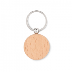 Okrągły drewniany brelok - MO9773