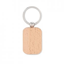 Drewniany brelok w kształcie prostokąta - MO9774