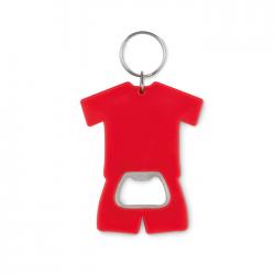Otwieracz do butelek w kształcie koszulki z ABS z breloczkiem - MO9778
