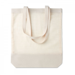 Siatkowa bawełniana torba na zakupy z długimi uchwytami - MO9814