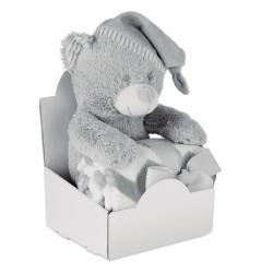 Duży pluszowy miś z polarowym kocem - MO9841