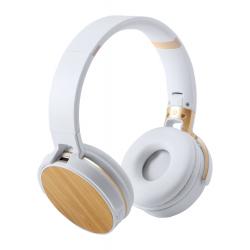 Słuchawki Bluetooth z bambusową dekoracją i wbudowanym akumulatorem - AP721523