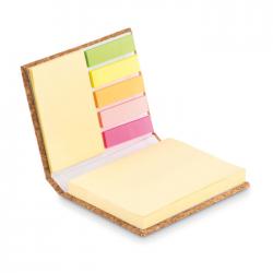 Notes z kartkami samoprzylepnymi w okładce z korka - MO9855