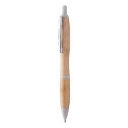 Długopis bambusowy z ekologicznymi elementami ze słomy pszenicznej i metalowym klipem - AP810438