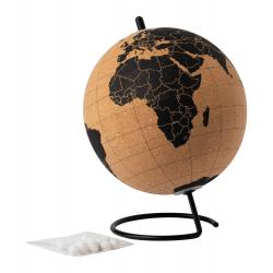 Globus z naturalnego korka na metalowej podstawie  - AP721501