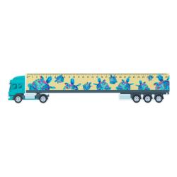 Plastikowa miarka 30cm w kształcie ciężarówki z dowolną grafiką