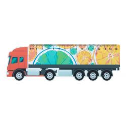 Plastikowa miarka 15 cm w kształcie ciężarówki z dowolną grafiką - AP718343