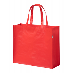 Laminowana, ekologiczna torba na zakupy wykonana z recyklingu z butelek PET. - AP721434