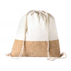 Worek ze sznurkami z bawełny (145 g/m²) i naturalnego korka - AP721566