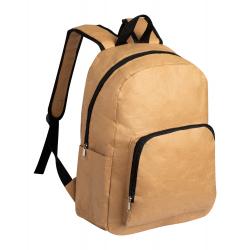 Laminowany, papierowy plecak z boczną kieszonką - AP721567
