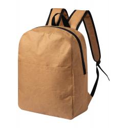 Laminowany , papierowy plecak z zapinaną przegrodą  - AP721568