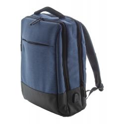 Plecak dwukolorowy z wieloma zapinanymi przegrodami, - AP810433