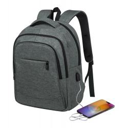 Plecak z zapinanymi przegrodami, wyściełanymi: miejscem na laptop i tablet - AP721557