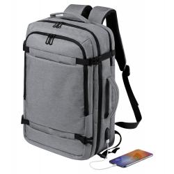 Dwufunkcyjny plecak / teczka na dokumenty z wieloma zapinanymi przegrodami i miejscem na laptopa - AP721576