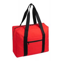 Zapinana torba na ramię z paskiem na walizkę, 600D poliester - AP721554