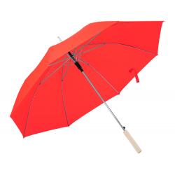 Automatyczny parasol z 8 panelami, drewnianą rączką i metalową ramą - AP721552