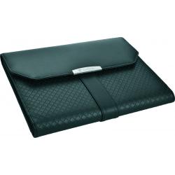 Stylowy folder format A4 wykonany ze skóry naturalnej z nowoczesnym wzorem - MA B5600500IP303