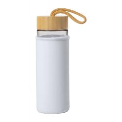 Szklana butelka sportowa z bambusową pokrywką i pokrowcem, 550 ml - AP721543