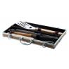Zestaw do grilla ze stali nierdzewnej i bambusa  - AP808028