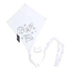 Latawiec do kolorowania dla dzieci z 4 kredkami w zestawie - AP721444